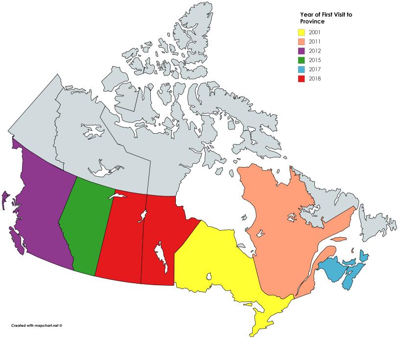 Canadian Visit Map